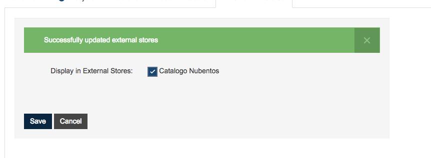 publish external Store nubentos
