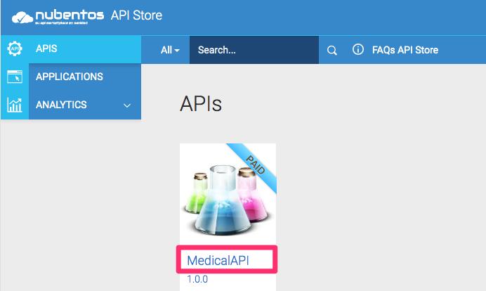 API Store Listing nubentos