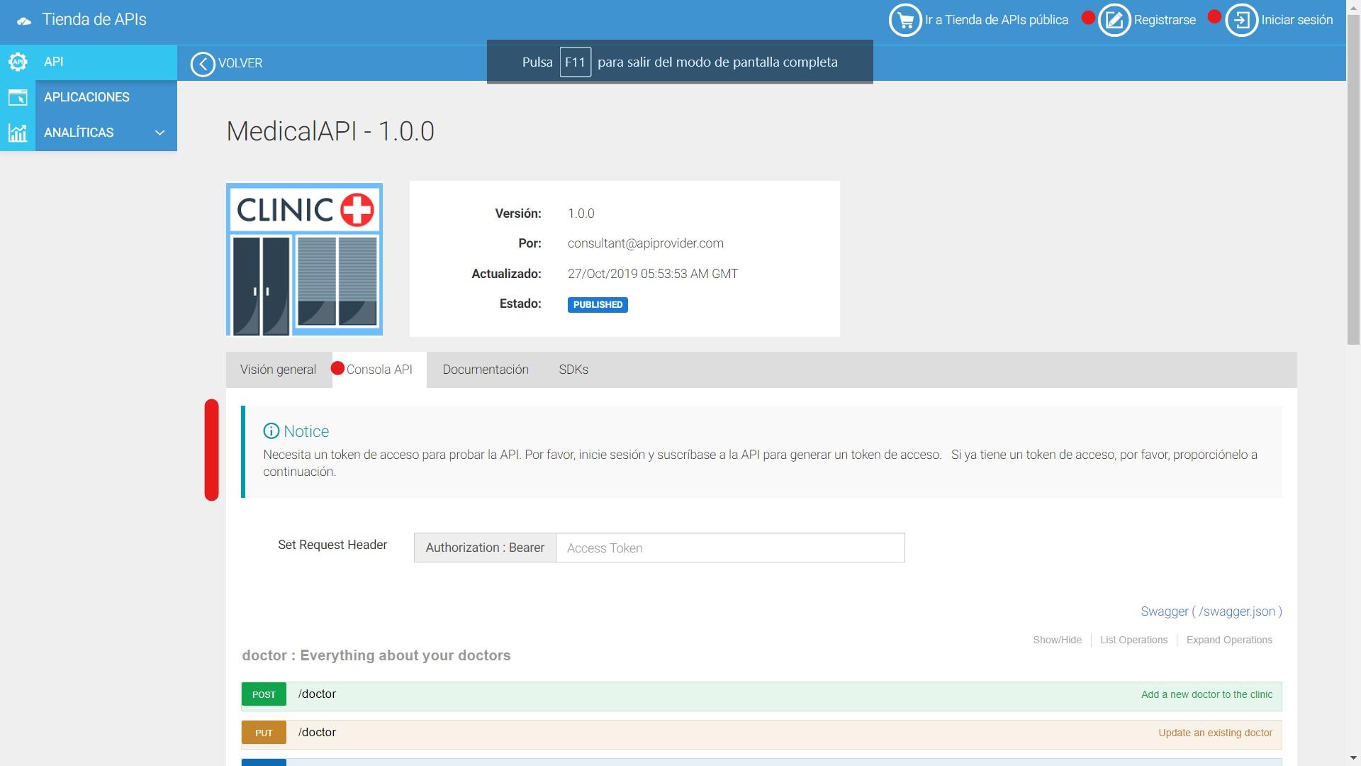 Anonimo Consola API